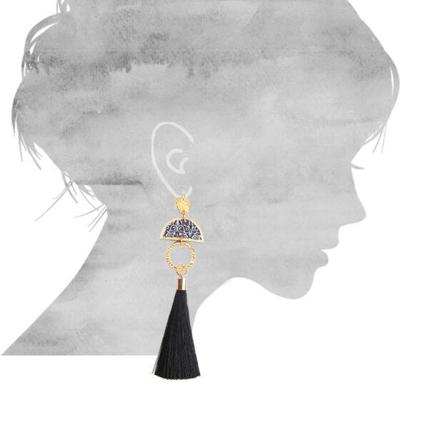 earring size small gypsy luxe for TASSEL pic art earrings NEXT ROMANCE jewellery unique art australia