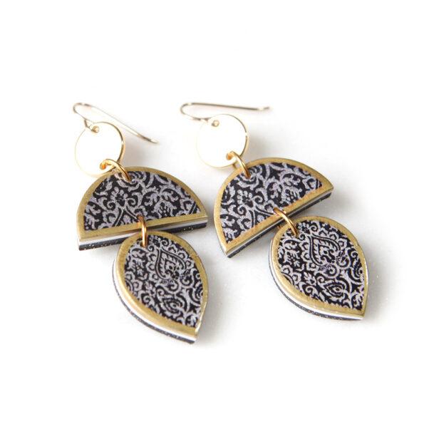 farrah flat morocco art tile earrings stacked shapes next romance jewels australia