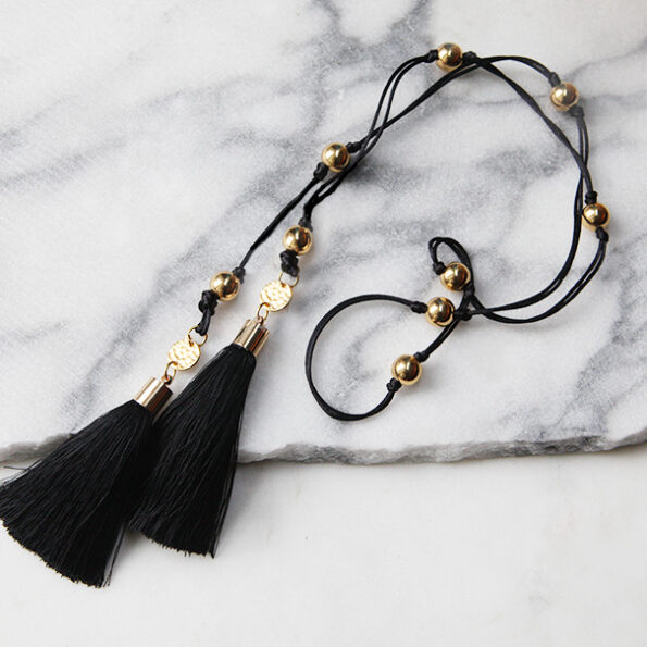 gold lariat tassel necklace next romance made in melbourne australin design