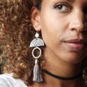large WEB CROP moon art silver limitless luxe tassel earrings2