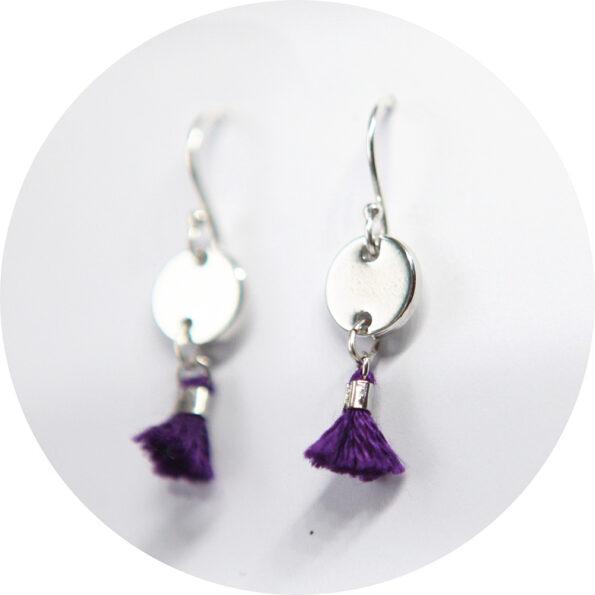 mini 8mm tassel coin earrings silver NEW Next Romance Jewellery