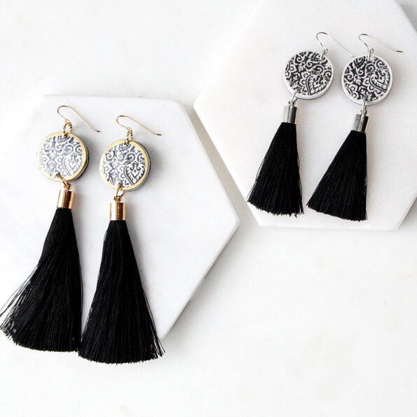 morocco art coin tassels silver gold long short variations next romance
