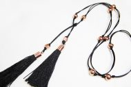next romance TASSEL jewellery melbourne black tassel lariat necklace.JPG copper