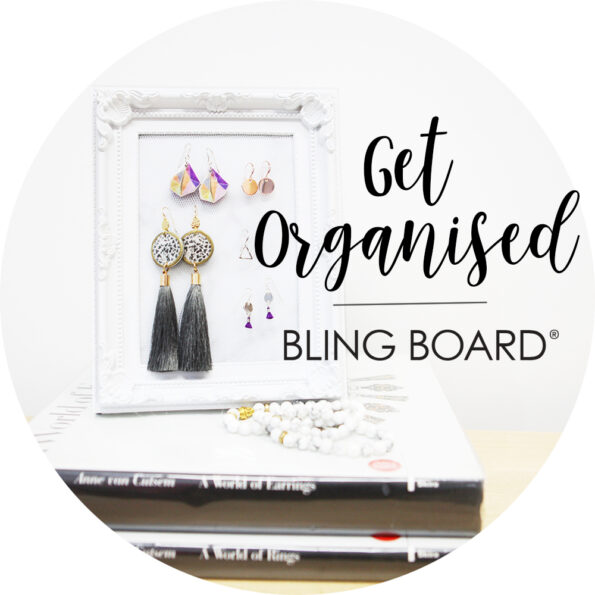 Get organised Bling Board earring organiser display NEXT ROMANCE JEWELLERY vicki leigh melbourne 2015