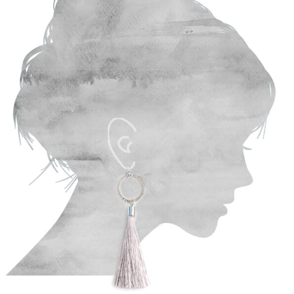 earring sizes for grey tassel earrings NEXT ROMANCE jewellery unique art australia