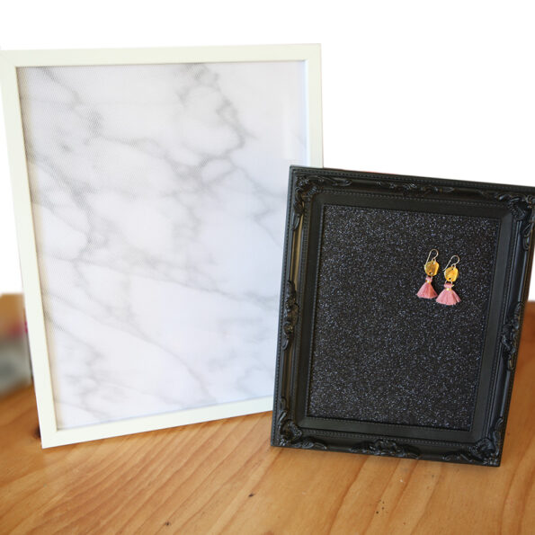large plain bling board frame Next romance earring organiser.JPG