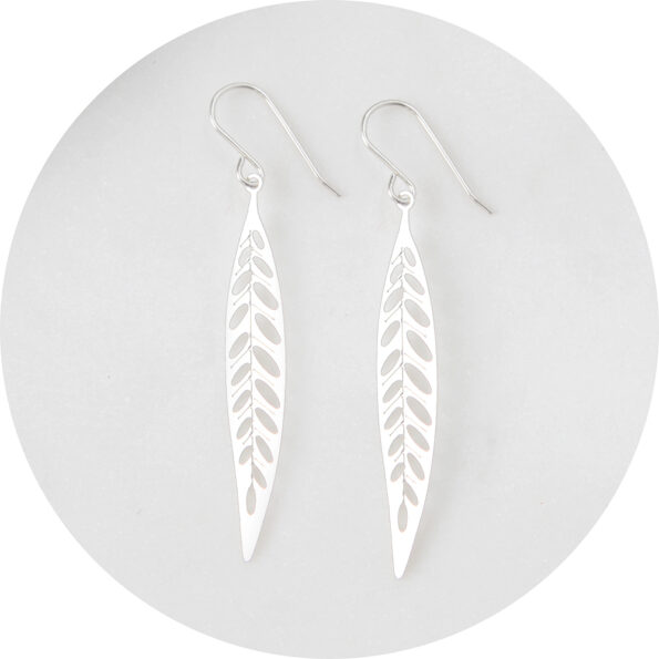 lazercut leaf steel earring design NEXT ROMANCE jewellery australia