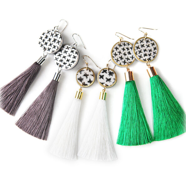 next romance tassel earrings boho art unique handmade in australia vicki leigh