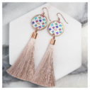 colourful cross LATTE tassel earrings rose gold NEXT ROMANCE jewelery australia