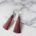 dark dusty pink hex tassels