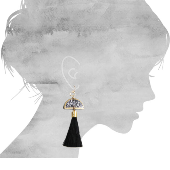 luxe moon art earrings NEXT ROMANCE jewellery unique art australia