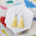 lemon silver hex tassel earrings NEXT ROMANCE jewels
