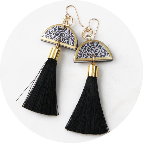 limitless moon link tassel earrings NEXT ROMANCE