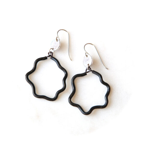 wobble poly jello earring next romance jewellery black coin