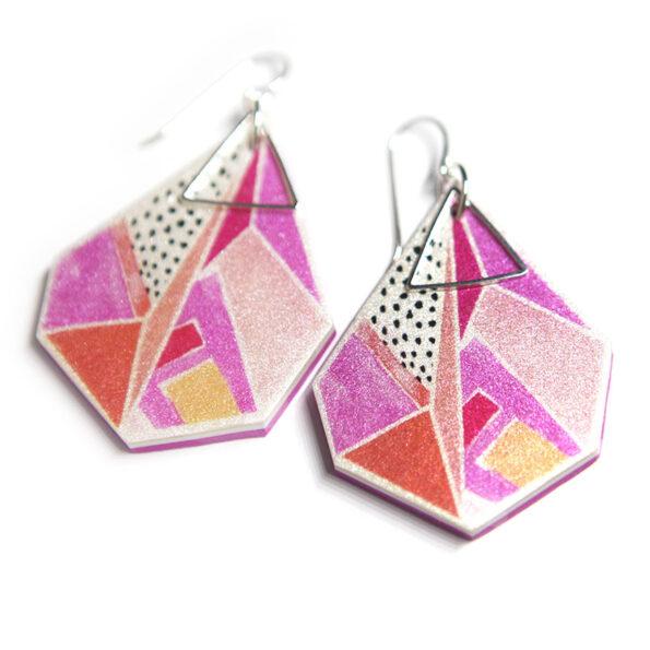 Next Romance signature design TRIANGLE ART earrings X DEVOI