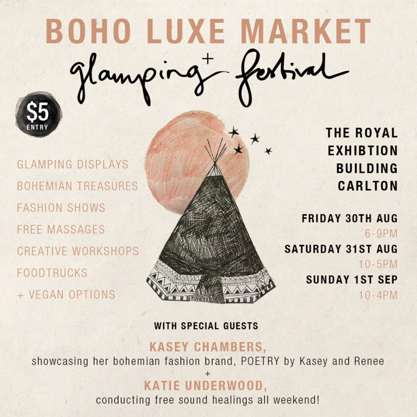 boho luxe glamping festival next romance jewellery august 2019