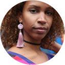 cygnas pink tassel art earrings POLKA DOT next romance jewellery
