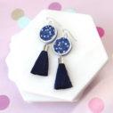 cygnas polka dot confetti earrings next romance jewellery australia vicki leigh