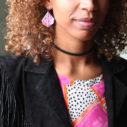 devoi x next romance art jewellery collaboration MARIAM model closeup