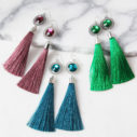 othello tassel facet resin halo lasercut earrings next romance