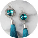 othello tassel facet resin lasercut earrings next romance