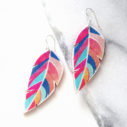 feather boho graphic art earrings sterling silver funky unique jewellery australian made