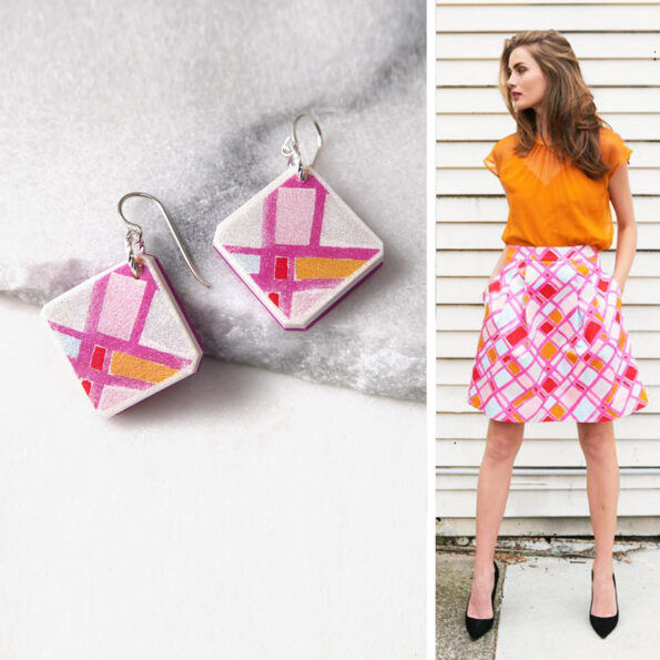DEVOI ARA small square art earrings – Next Romance X DEVOI collab