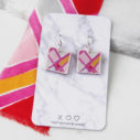 ARA square sml art earrings DEVOI x next romance jewellery australia