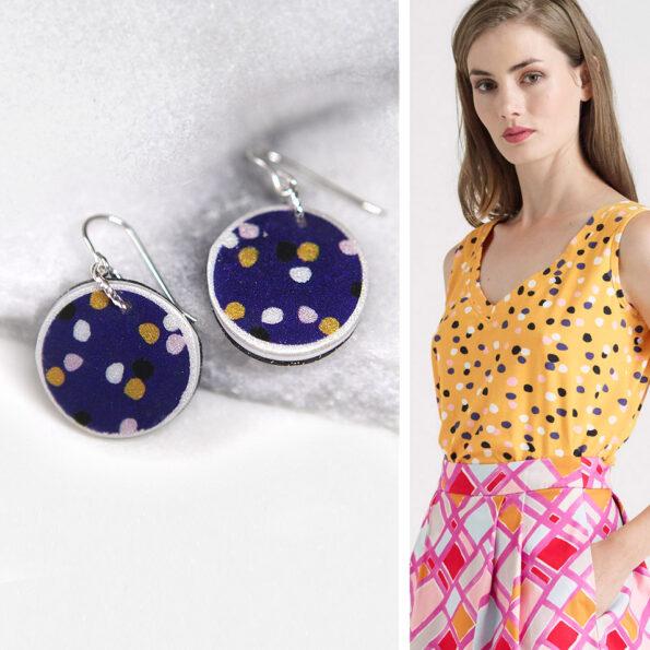 CYGNUS 2 polkadots with skirt DEVOI image Next Romance Jewellery Collab copy