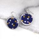 CYGNUS polkadot navy art earrings NEXT ROMANCE jewellery melbourne fashion