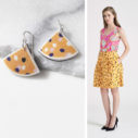 CYGNUS polkadots FAN with skirt DEVOI image Next Romance Jewellery Collab