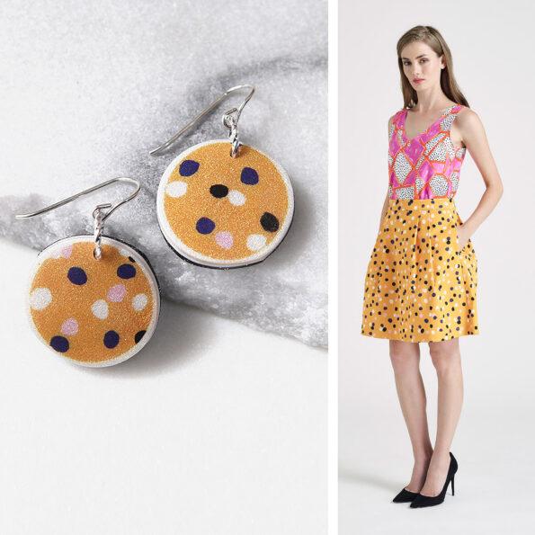 DEVOI  CYGNUS dot polka art earrings – Next Romance Unique Jewellery X DEVOI collab