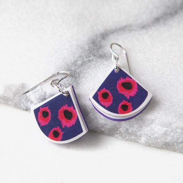 VELA small fan art earrings DEVOI x next romance collaboration