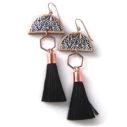 dancing LUXE rose gold hexagon tassel art earring next romance vicki leigh lee