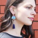 tassel earrings BLUE DANCER NEW summer Next Romance jewelley unique australian designer