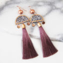 dark rose pink MARAKESH limitless luxe art earring NEXT ROMANCE jewellery australia