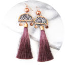dark rose pink MARRAKESH luxe art earring NEXT ROMANCE jewellery australia