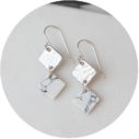 modern marble diamond double drop earrings silver or gold next romance unique jewellery made in australia