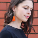 orange hexagon tassel earrings NEXT ROMANCE 2017 jewellery australia