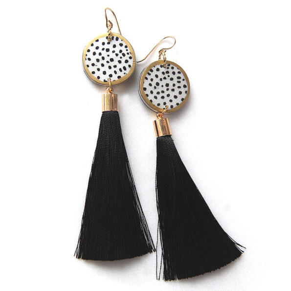 DEVOI PICTOR ink dot tassel art earrings – Next Romance X Devoi
