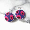 vela medium art earrings Devoi x next romance unique handmade jewellery