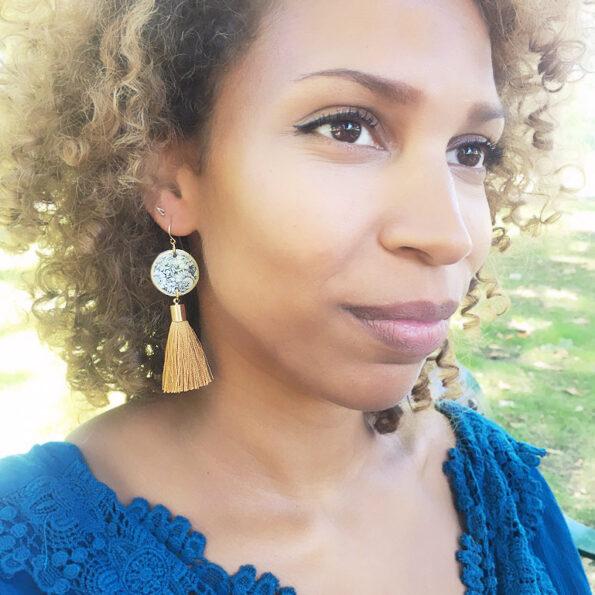 floral tassel earrings Mariama next romance jewellery australia