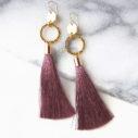 hammer coin dangle tassel earrings NEXT ROMANCE jewellery australia