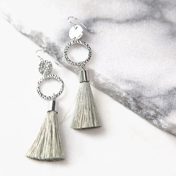 hammered coin dangle tassel earrings NEXT ROMANCE jewellery australia