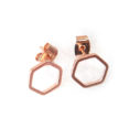 hexagon studs crop wt NEXT ROMANCE jewellery fine rose gold