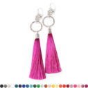 silver Double Hammered tassel earrings NEXT ROMANCE jewellery designs australia