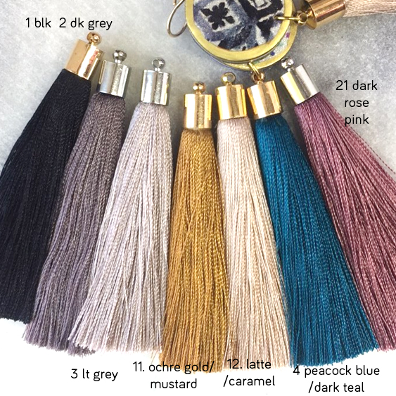 tassel colour earrings options