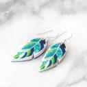 unique art earrings feather leaf design next romance