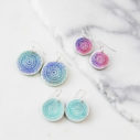 unique earrings mandala boho art jewellery NEXT ROMANCE