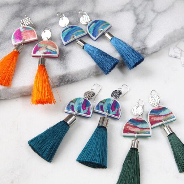 ALL cha cha painter tassel art earrings NEXT ROMANCE unique jewellery australia